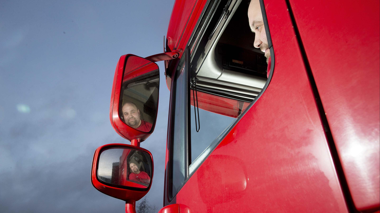 Brian Skovsgaard, lastbilchauffør.