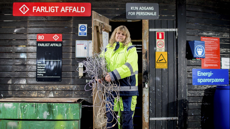 Linda Larsen, genbrugsmedarbejder.